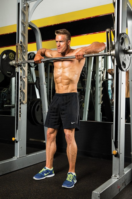 Wide-Grip Smith-Machine Upright Row