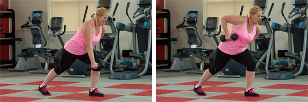 Single-arm Standing Dumbbell Row